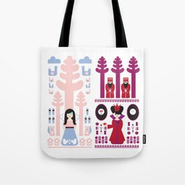 Good vs Evil: Snow White and the Evil Queen Tote Bag