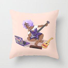 Bass Girl Throw Pillow