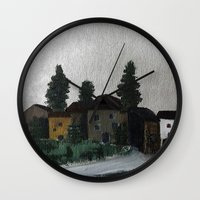 hamlet Wall Clocks featuring the hamlet by Maria Julia Bastias