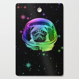 Space Pug Cutting Board