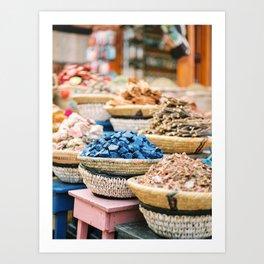 "Travel photography print ""Souks of Marrakech"" | Morocco photo print art | Wanderlust wall art Art Pr Art Print"