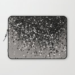 Silver Gray Glitter #1 #shiny #decor #art #society6 Laptop Sleeve