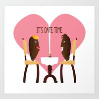 Everybody loves romantic dates Art Print