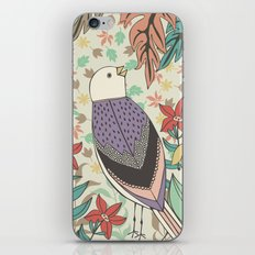 Bird and Autumn Leaves iPhone & iPod Skin