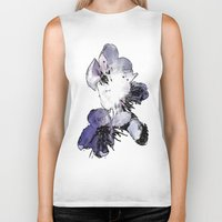 cherry blossoms Biker Tanks featuring CHERRY BLOSSOMS. by capricorn