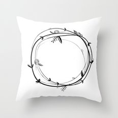 Botanical Wreath Throw Pillow