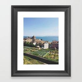 View from Le Château de Nyon Framed Art Print