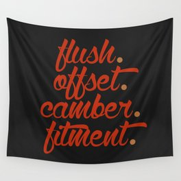 flush offset camber fitment v1 HQvector Wall Tapestry