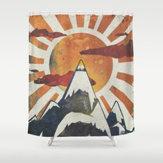 Mount Spitfire Shower Curtain
