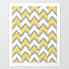 Mustard Chevron Art Print