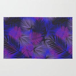 Tropical Black Purple & Blue Rug