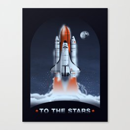To The Stars | Space Shuttle Canvas Print