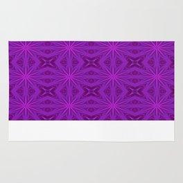 Purple Haze Flowers Rug