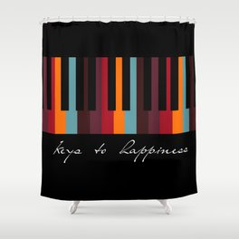 keys to happiness Shower Curtain