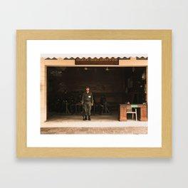on guard Framed Art Print