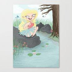 Pond Fairy Canvas Print