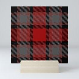 Red black gray tartan Mini Art Print