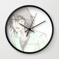bleach Wall Clocks featuring Bleach: Ulquiorra by JaneSheep