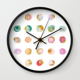 Painted Dots & Gold Wall Clock