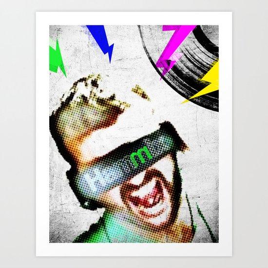 DJ Hammix - The Beat is the Law Art Print