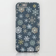 night time snow  iPhone 6s Slim Case