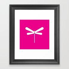 LibelluleMonde Magenta Branding Framed Art Print