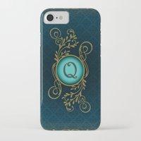 monogram iPhone & iPod Cases featuring Monogram Q by Britta Glodde