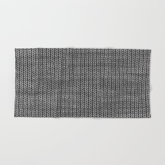 Antiallergenic Hand Knitted Grey Wool Pattern - Mix & Match with Simplicty of life Hand & Bath Towel
