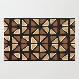 African mud cloth random triangles Rug
