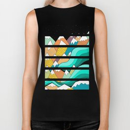 Waves of the mountains Biker Tank