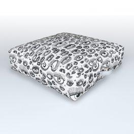 Eye Lash Outdoor Floor Cushion