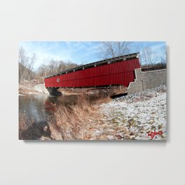 SCHLICHERS COVERED BRIDGE: Part 2 Metal Print
