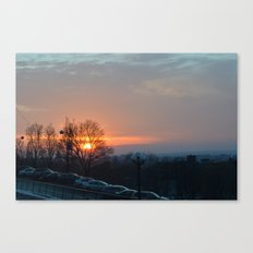 Sunset in Montreal Canvas Print