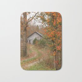 Country farm in Autumn Bath Mat