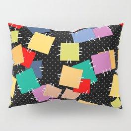 Multi-colored flaps, retro Pillow Sham
