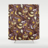 hedwig Shower Curtains featuring Potter Paisley by Kate Moore