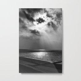 Sun behind clouds (B&W) Metal Print