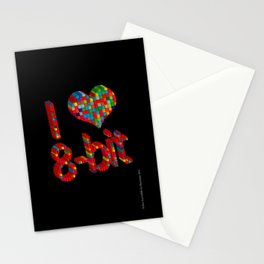 i heart 8-bit Stationery Cards