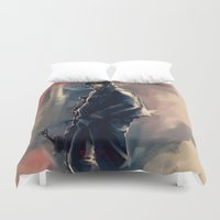 daryl dixon Duvet Covers featuring DARYL DIXON - THE WALKING DEAD by AkiMao