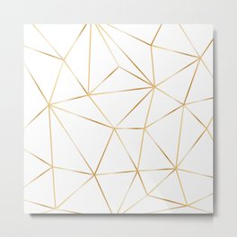 gold polygon on white Metal Print