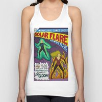 comic book Tank Tops featuring Comic Book Poster by Not Too Shabby