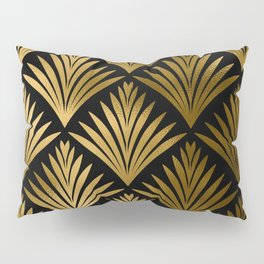 Luxurious Black and Gold Art Deco Elegant Pattern Pillow Sham