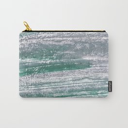 Slate gray green nebulous watercolor paper Carry-All Pouch