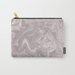Faux Marble In Elegant Soft Pink Carry-All Pouch