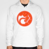 magic the gathering Hoodies featuring Magic the Gathering, Neon Red Mana by Thorn Blackstar