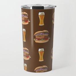 Burgers and Beer Travel Mug