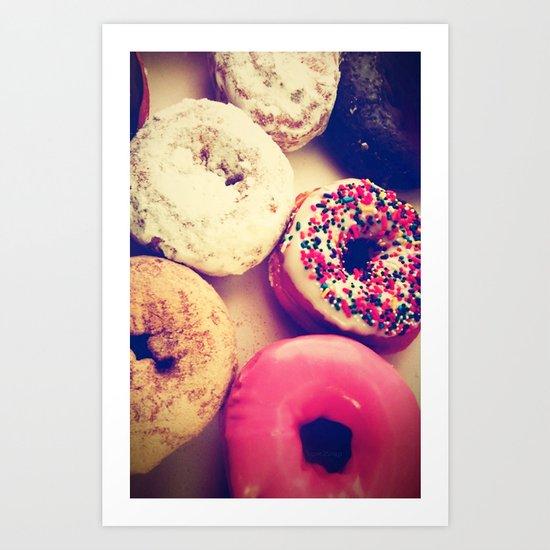 Yummy iPhone! Sweet donuts! Art Print