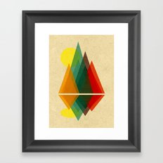 Whimsical Summer Mountain Peaks Framed Art Print