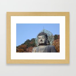 Autumn Buddha Framed Art Print