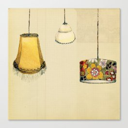 Retro Lampshades Canvas Print